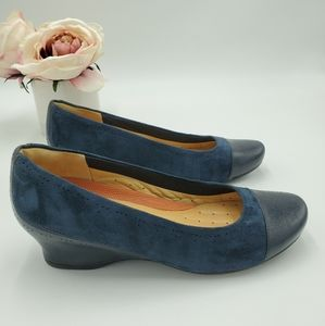 Clarks Suede/Leather Wedges